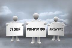 Samengesteld beeld van wolk gegevensverwerkingsantwoorden Stock Fotografie