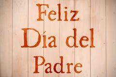 Samengesteld beeld van woord feliz dia del padre stock afbeeldingen