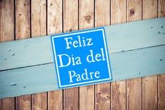 Samengesteld beeld van woord feliz dia del padre royalty-vrije illustratie