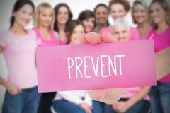 Samengesteld beeld voor de voorlichting van borstkanker Stock Fotografie