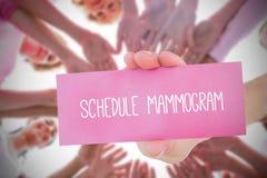 Samengesteld beeld voor de voorlichting van borstkanker royalty-vrije stock fotografie