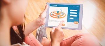 Samengesteld 3d beeld van digitaal beeld van navigatiepictogrammen op het scherm Royalty-vrije Stock Afbeeldingen