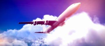 Samengesteld 3d beeld van grafisch vliegtuig Royalty-vrije Stock Afbeelding