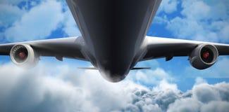 Samengesteld 3d beeld van grafisch vliegtuig Stock Foto's