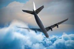 Samengesteld 3d beeld van grafisch vliegtuig Stock Fotografie