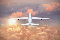 Samengesteld 3d beeld van grafisch vliegtuig Royalty-vrije Stock Foto's