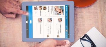Samengesteld 3d beeld van interface van praatjetoepassing Royalty-vrije Stock Fotografie