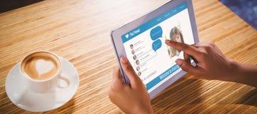 Samengesteld 3d beeld van interface van praatjetoepassing Royalty-vrije Stock Foto