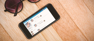 Samengesteld 3d beeld van interface van praatjetoepassing Stock Foto