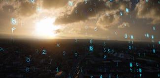 Samengesteld 3d beeld van virusachtergrond Royalty-vrije Stock Afbeelding