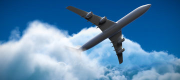 Samengesteld 3d beeld van vliegtuig Stock Afbeeldingen