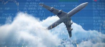 Samengesteld 3d beeld van vliegtuig Royalty-vrije Stock Fotografie