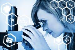 Samengesteld grafisch beeld van wetenschap Stock Afbeeldingen