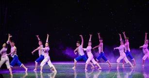 Samenhangende kracht-kust van de Gele rivier-Moderne dans Stock Foto