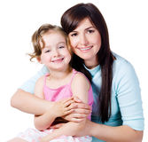 Samenhorigheid van moeder met dochter Stock Foto