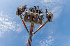 Samenkomende hoogte in de lucht bij de markt stock foto's