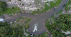 Samenloop van Zuiden en het Noordenvorken van de Sombere Rivier stock videobeelden
