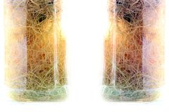 Samenstelling in een glasvaas Decoratieve vaas stock foto's