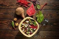 Samenstelling met biet en salade Royalty-vrije Stock Foto