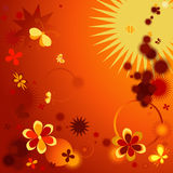 Samenstelling met bloemen royalty-vrije illustratie