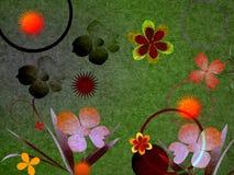 Samenstelling met bloemen vector illustratie