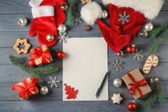 Samenstelling met brief aan Santa Claus Royalty-vrije Stock Fotografie