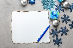 Samenstelling met brief aan Santa Claus Royalty-vrije Stock Foto's