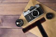 Samenstelling met de camera stock foto's