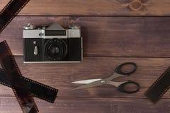 Samenstelling met de camera royalty-vrije stock afbeelding