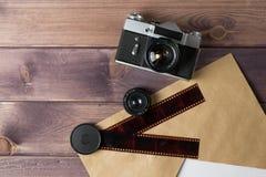 Samenstelling met de camera royalty-vrije stock foto's