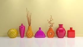 Samenstelling met decoratief aardewerk Stock Foto's