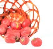 Samenstelling met rauwe groenten Stock Foto