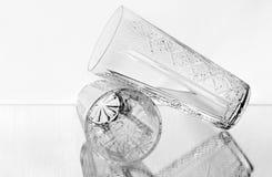 Samenstelling met twee glazen Stock Afbeelding