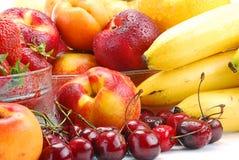 Samenstelling met vruchten Stock Foto's