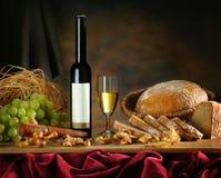 Samenstelling met wijn Stock Afbeelding