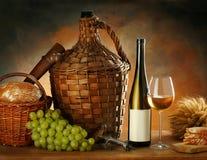 Samenstelling met wijn Stock Foto's