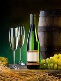 Samenstelling met wijn Royalty-vrije Stock Foto
