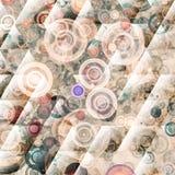 Samenstelling van abstract radiaal net Stock Afbeeldingen
