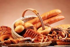 Samenstelling van bakkerij Royalty-vrije Stock Foto's