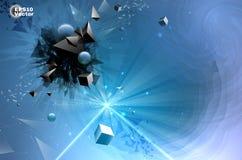 Samenstelling van chaotische geometrische vormen Stock Illustratie