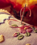 Samenstelling van crochet royalty-vrije stock foto