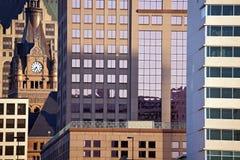Samenstelling van de gebouwen van Millwaukee stock foto's