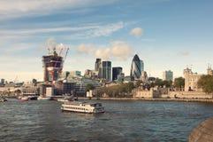 Samenstelling van de het districtsarchitectuur van Londen de centrale Stock Foto