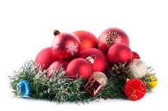 Samenstelling van de Kerstmisballen Royalty-vrije Stock Afbeelding