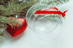 Samenstelling van de Kerstmisdecoratie Stock Fotografie