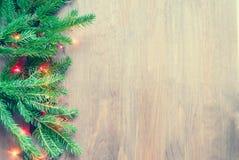 Samenstelling van de Kerstmisdecoratie Stock Foto