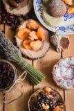 Samenstelling van de traditionele de winteringrediënten Royalty-vrije Stock Fotografie