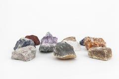 Samenstelling van diverse kristallen Stock Fotografie