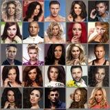 Samenstelling van diverse mensen royalty-vrije stock foto's
