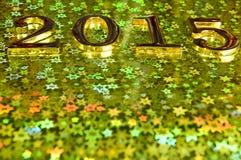 samenstelling van gouden nummer 2015 jaar Royalty-vrije Stock Afbeelding